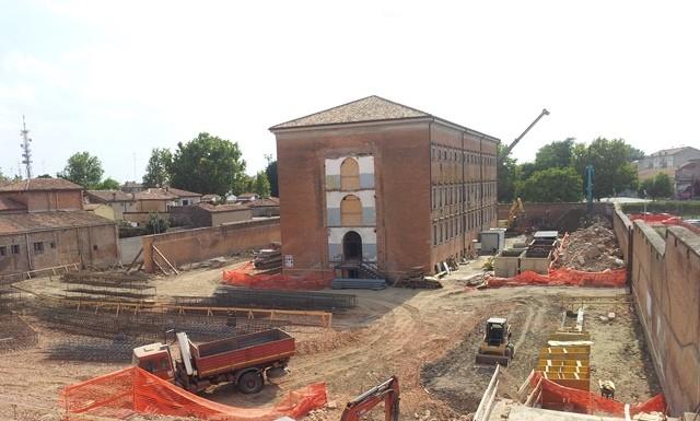Il cantiere dell'edificio destinato a divenire museo.