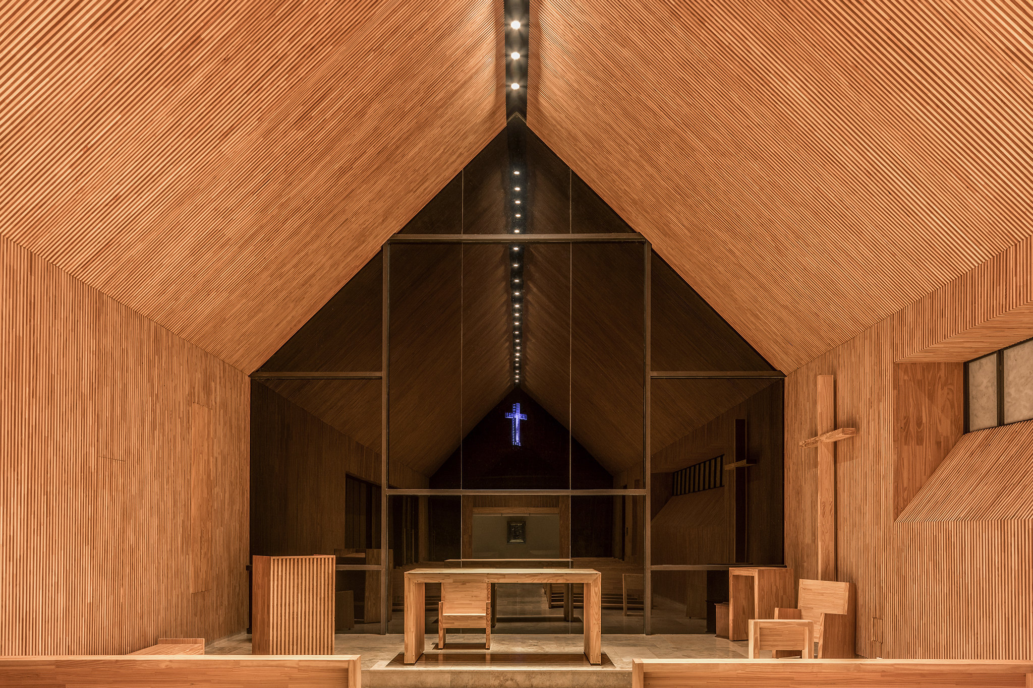 Cappella di Santa Ana, nel territori di Misiones, in Argentina. Progetto dello studio Cella. (foto Ramiro Soza)