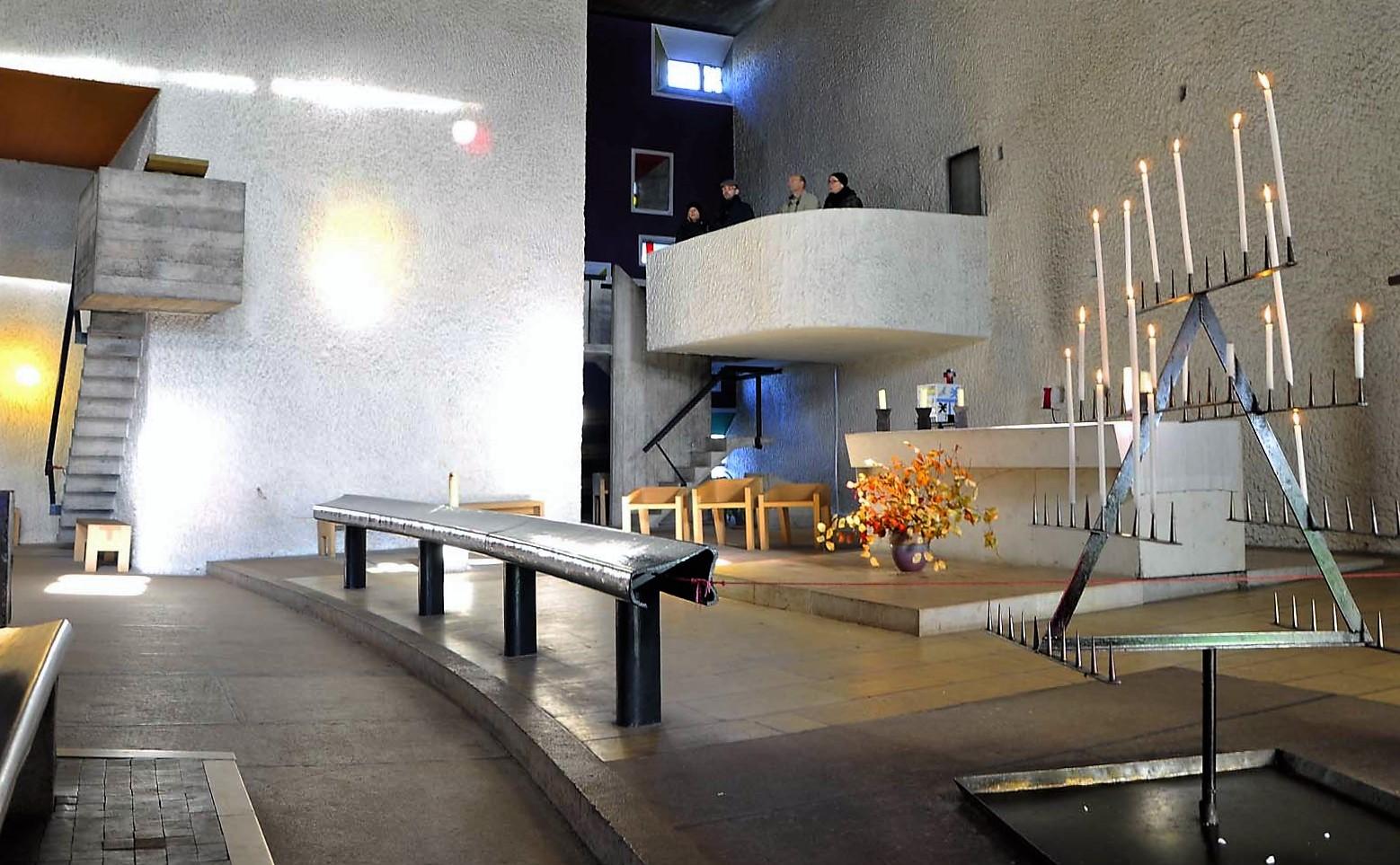 Cappella di Ronchamp. Progetto Le Corbusier con p. Marie-Alain Cuturier.(foto Daniele Basso)