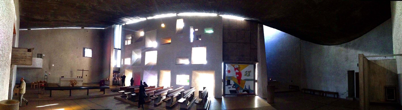 La veduta panoramica rende bene l'insieme dello spazio interno.(foto D. Basso)