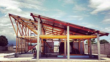 L'intelaiatura strutturale della scuola.