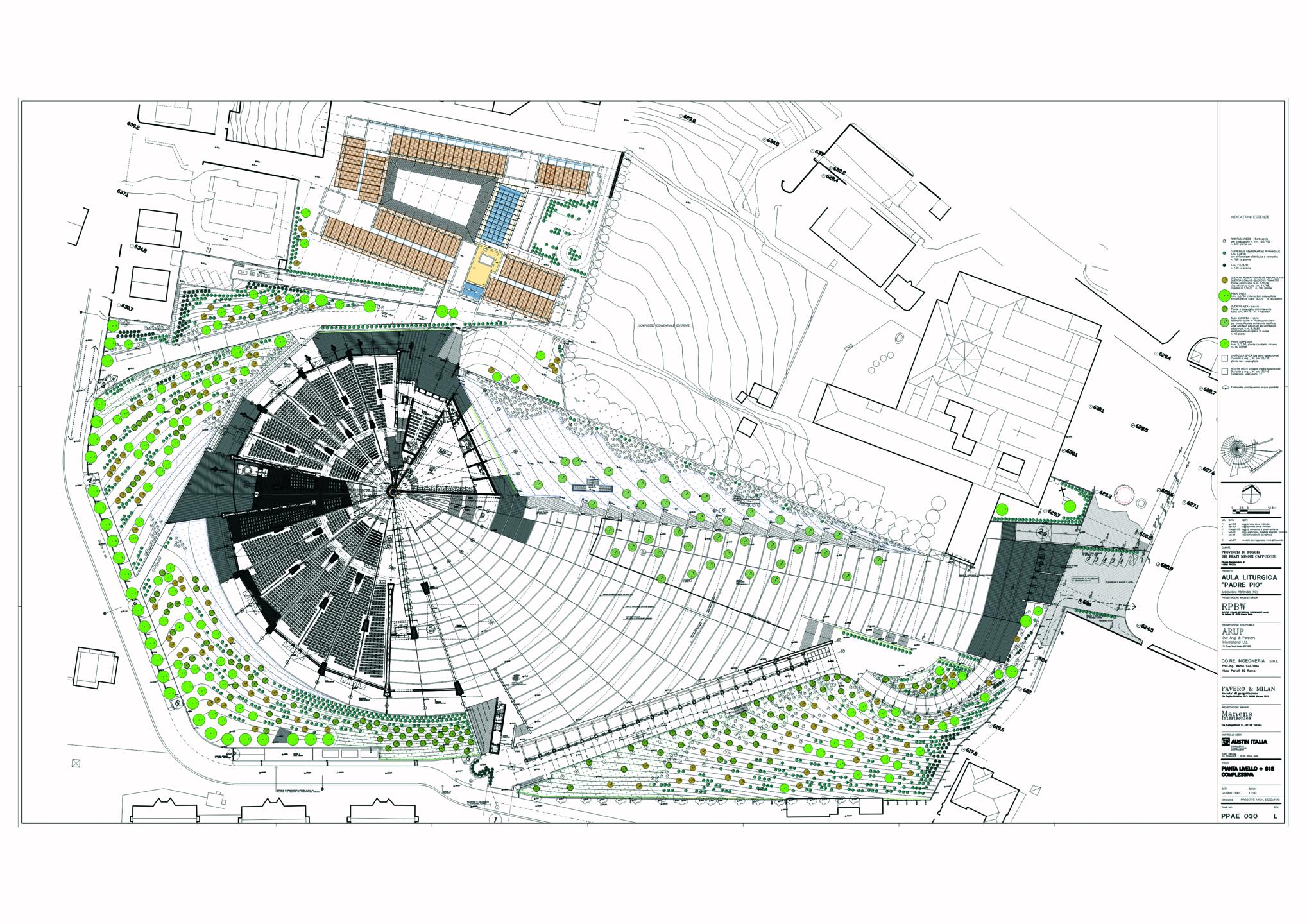 Santuario di San Pio, progetto Renzo Piano. L'ingresso principale ? stato spostato dal sagrato alla parte posteriore.