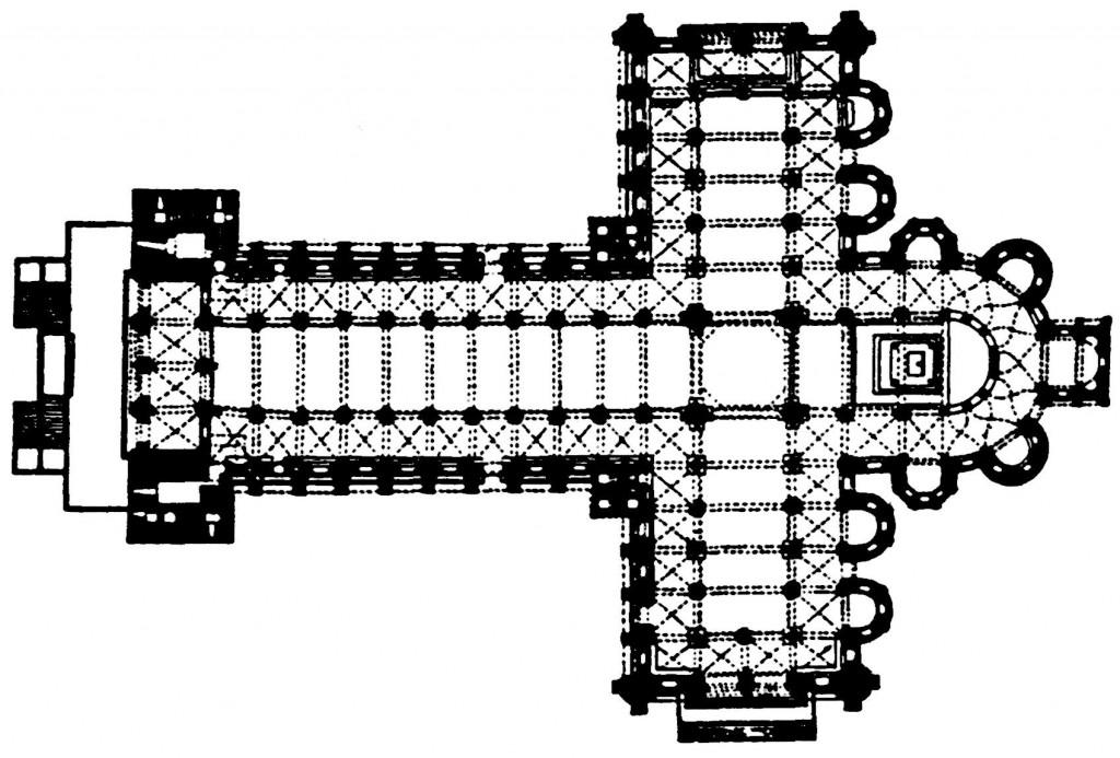 Pianta della basilica di Santiago de Compostela