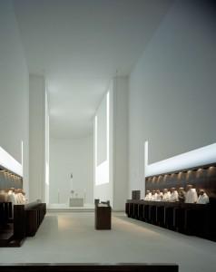 Coro della chiesa del monastero di Novi Dvur. Progetto John Pawson.